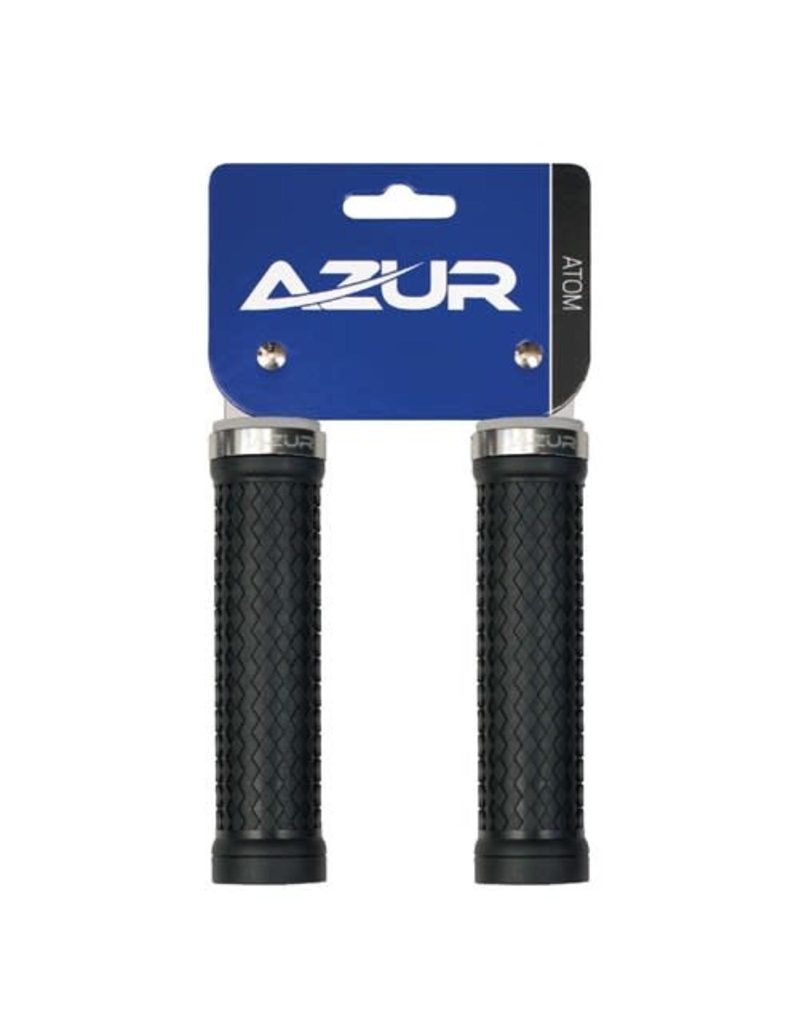 AZUR AZUR ATOM LOCK-ON GRIPS SILVER