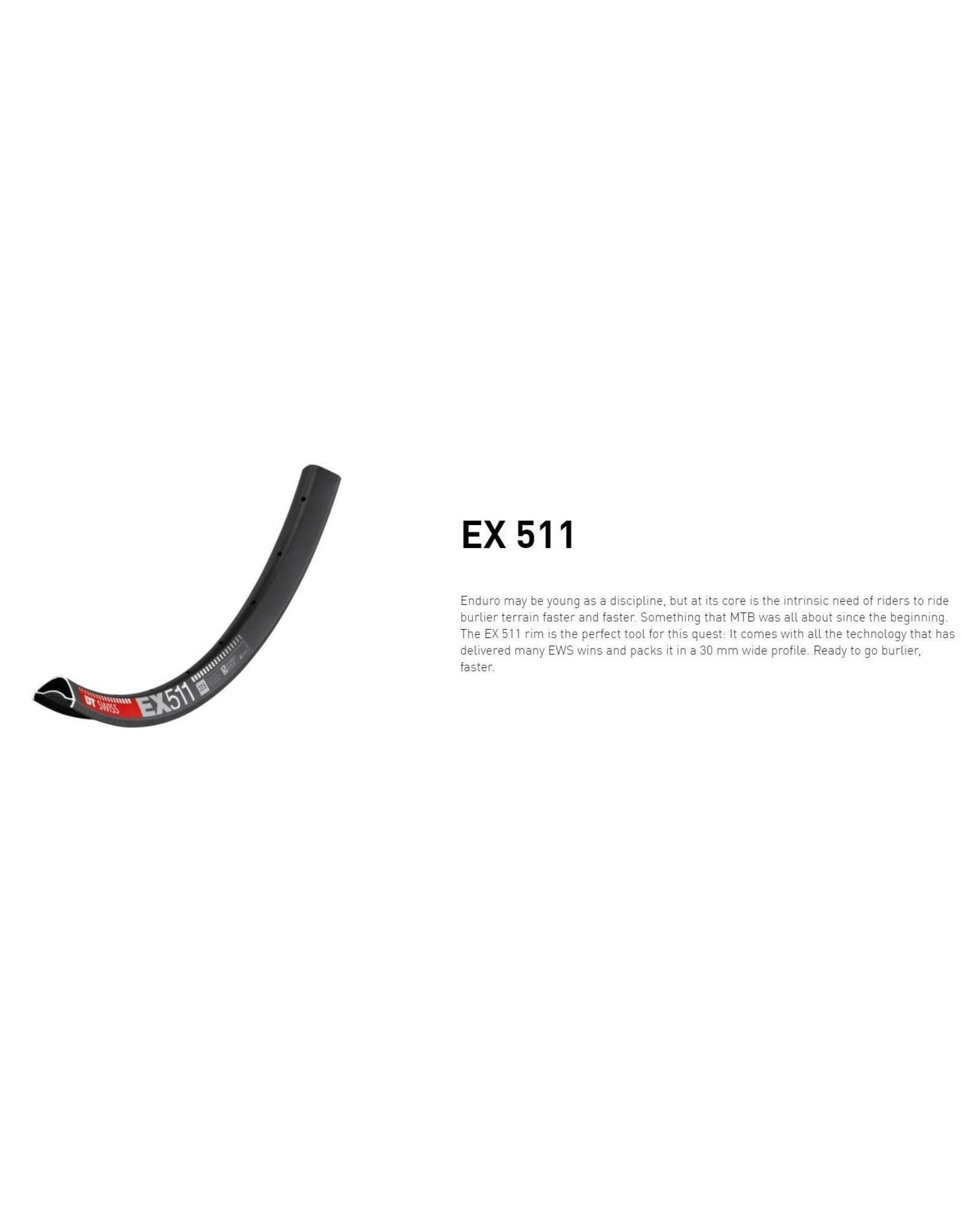 """DT Swiss DT SWISS EX511 29"""" 28H BLACK RIM ERD 563MM"""