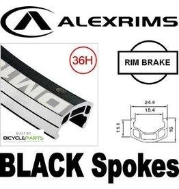 ALEX ALEX DM-18 700C REAR 8/10 SPEED BLACK ALLOY Q/R HUB BLACK SPOKES WHEEL (Matching Front 95224)