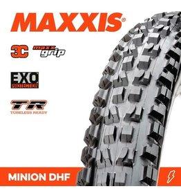 "MAXXIS MAXXIS MINION DHF 29 X 2.50"" WT TR EXO 3C MAXX GRIP FOLD 60TPI TYRE"