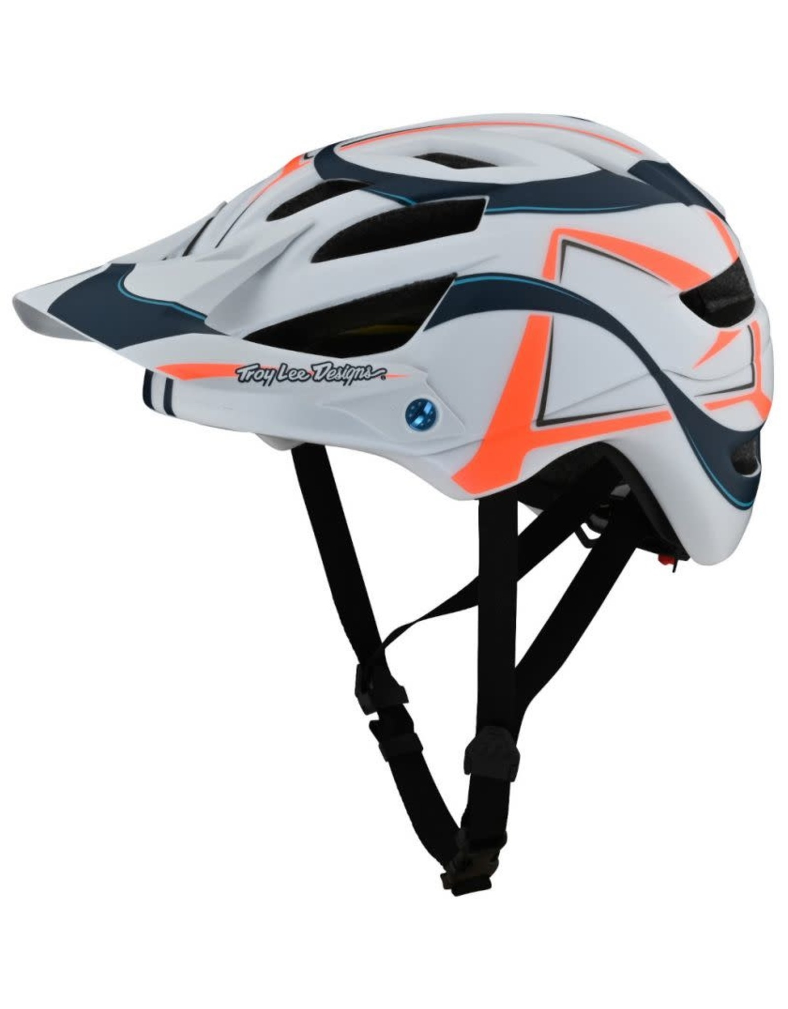 TROY LEE DESIGNS TROY LEE DESIGNS '21 A1 AS YOUTH CLASSIC HELMET MIPS WELTER WHITE/MARINE