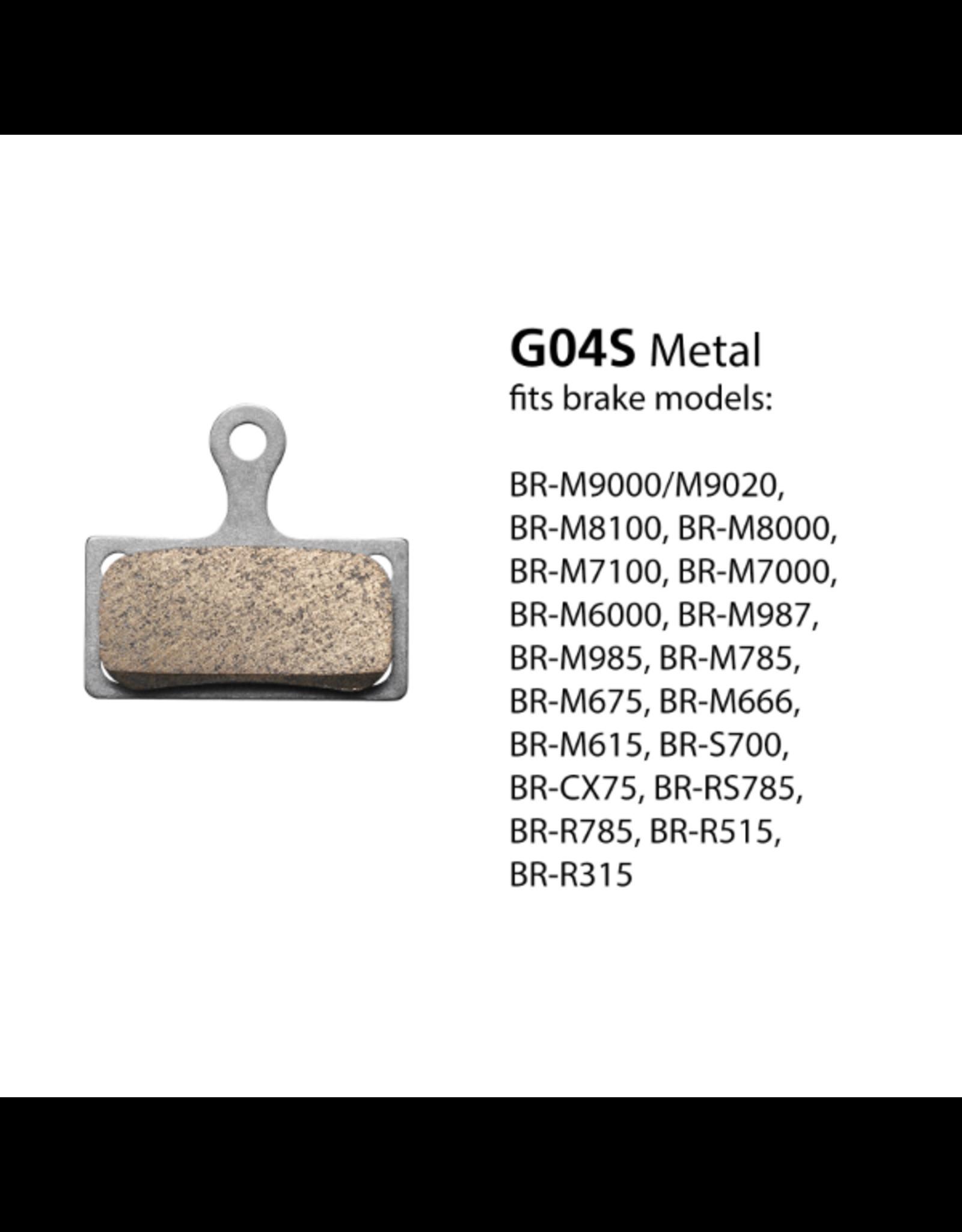 Shimano SHIMANO BR-M8000/9000 G04S METAL DISC BRAKE PADS XT/SLX