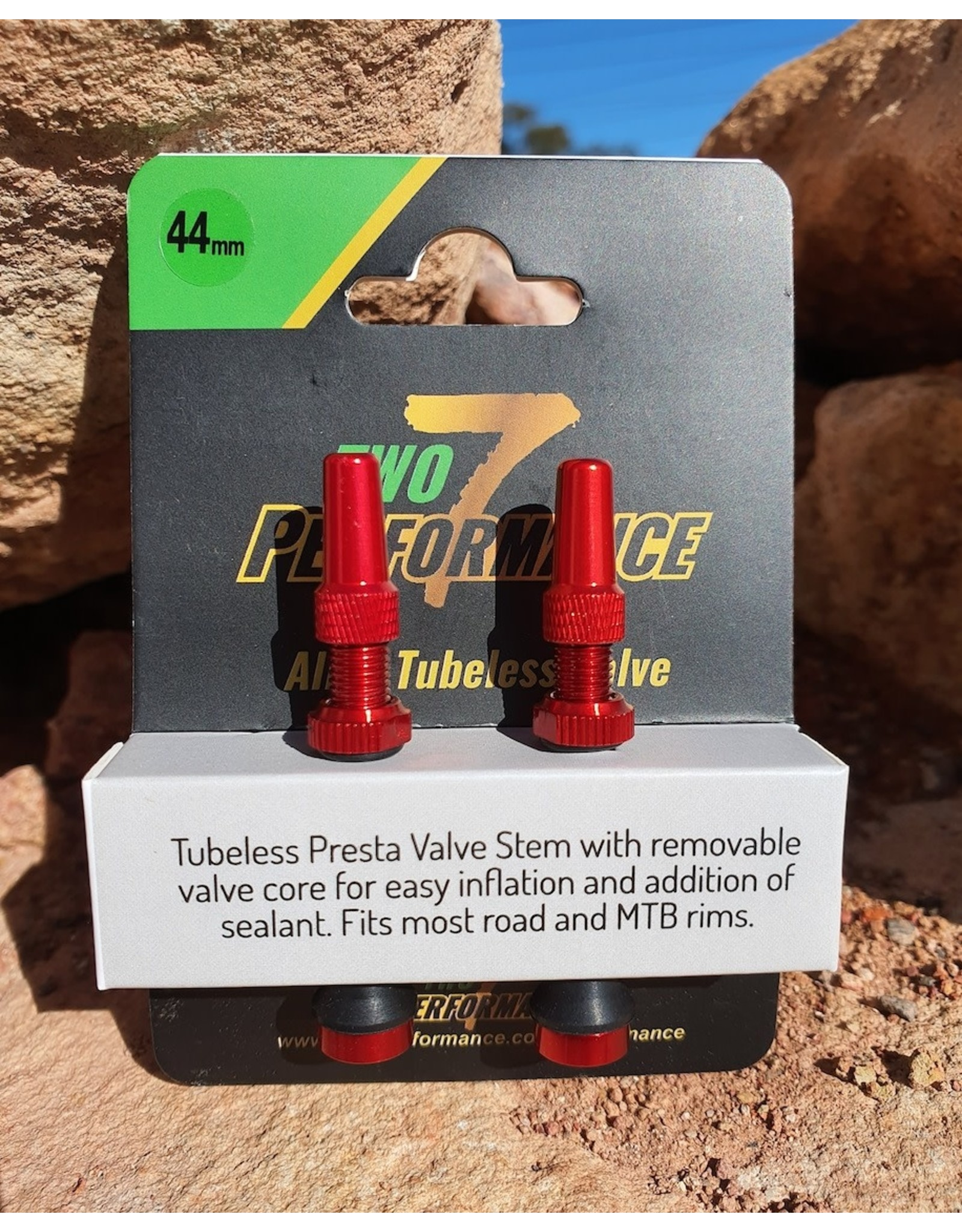 TWO7 PERFORMANCE TWO7 PERFORMANCE TUBELESS VALVE ALLOY PAIR