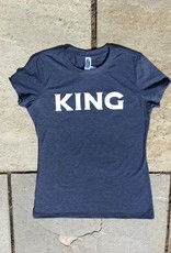 Womens tri blend tee navy frost