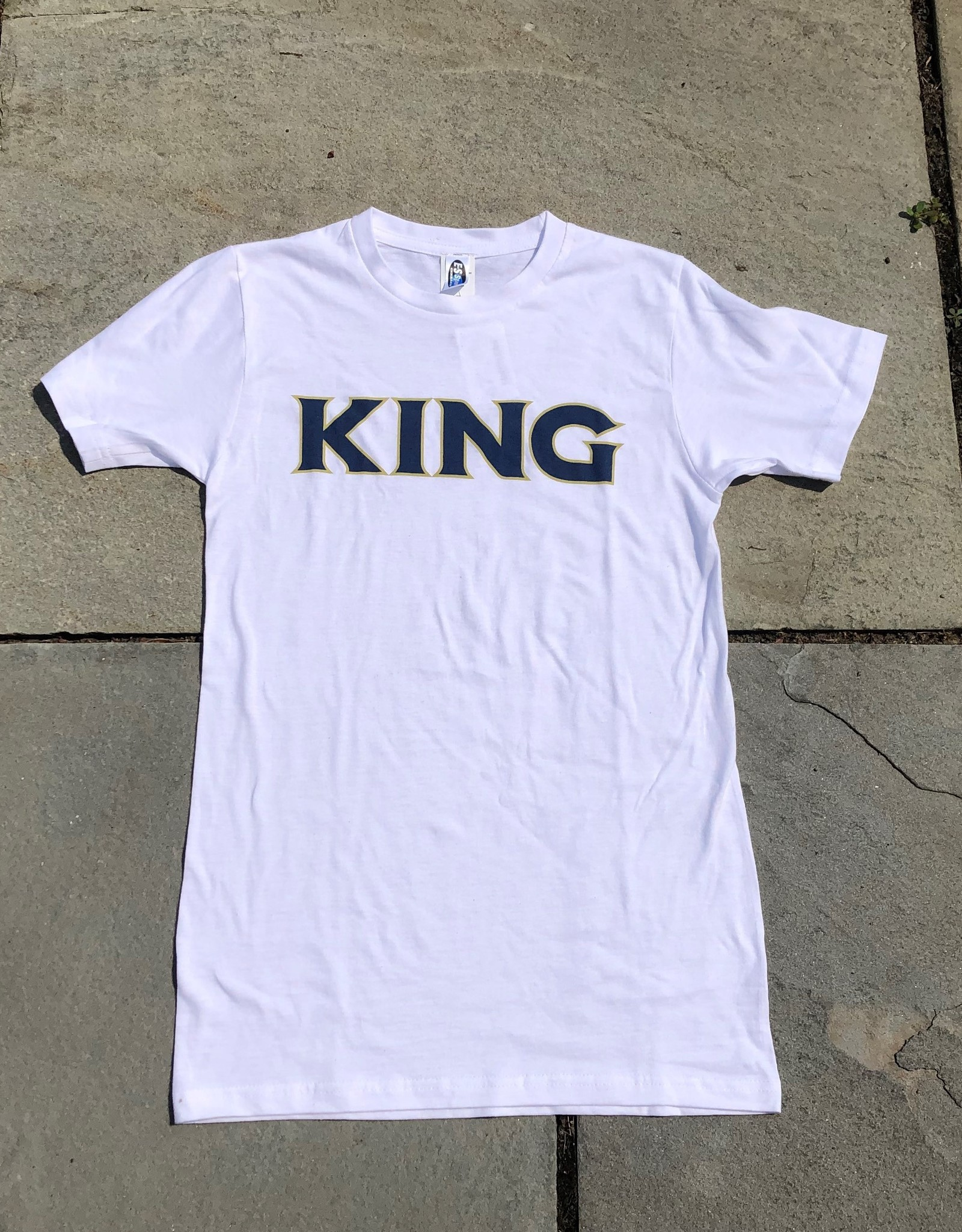 ES Sports Blue/Gold King White Tee