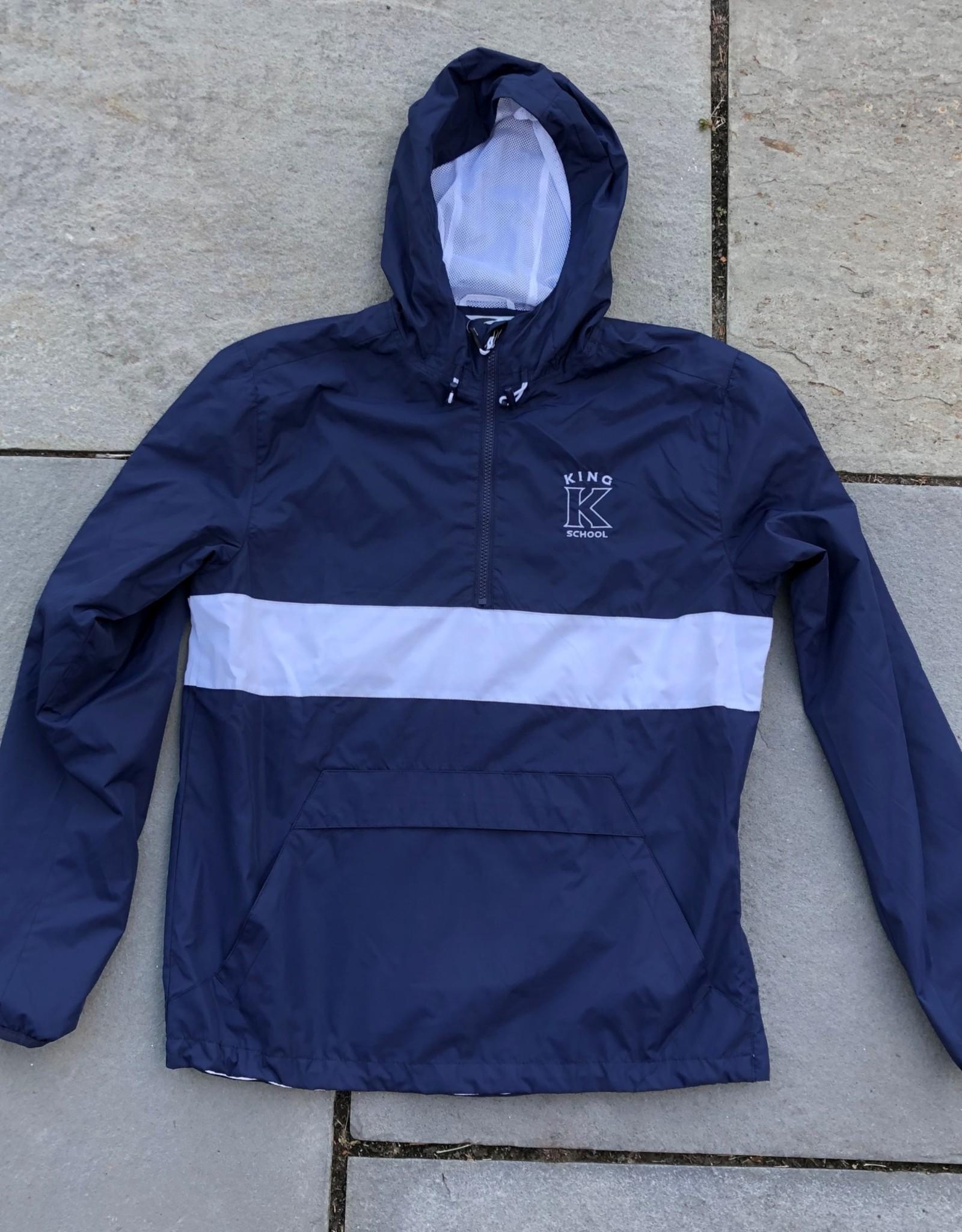 ES Sports Navy/White Zipped Pocket Anorak