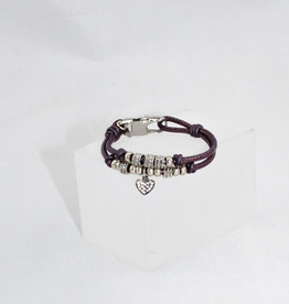 Lizzy James Charlotte CZ Heart-Met Berry-2—S Bracelet