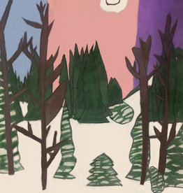 Create Forest of Winter Pines