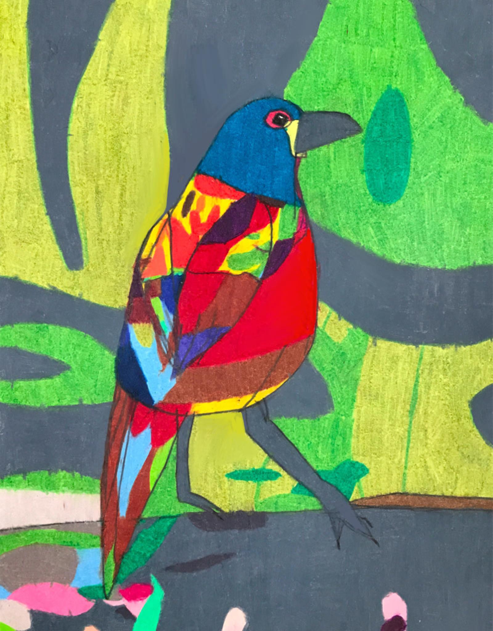 Create Greeting Colorful Bird