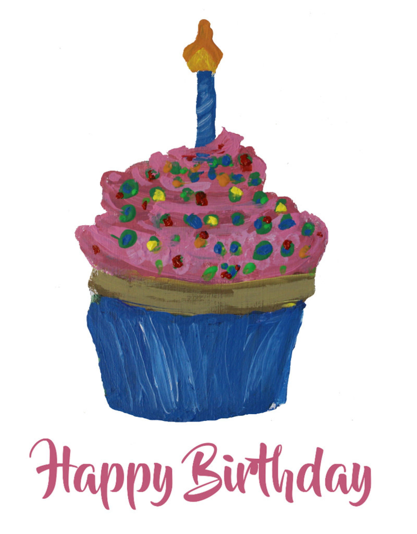 Create Greeting Card-Birthday Cupcake