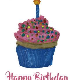 Create Birthday Cupcake