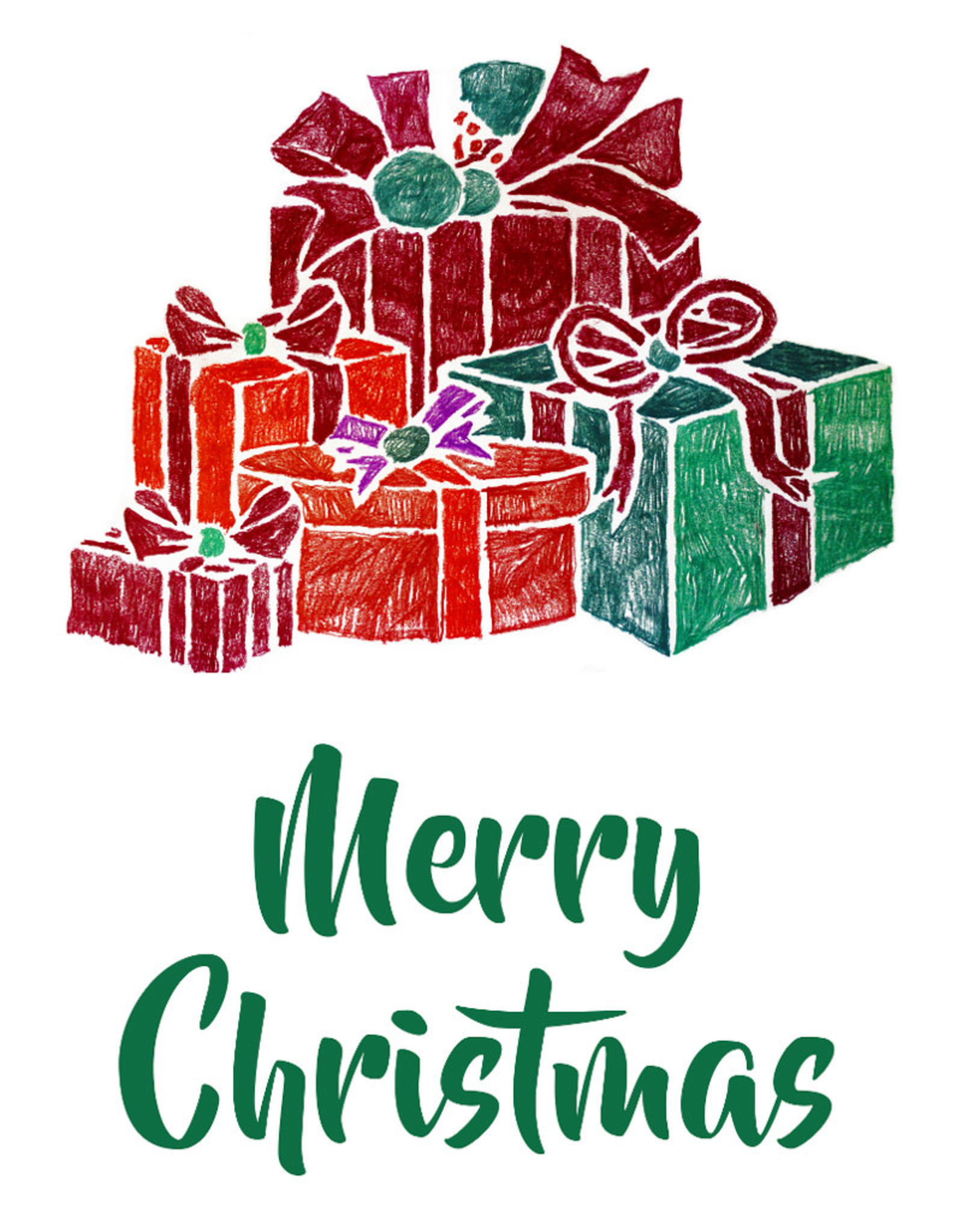 Create Greeting Card-Merry Christmas-Gifts