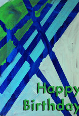 Create Greeting Card-Happy Birthday-Green and Blue