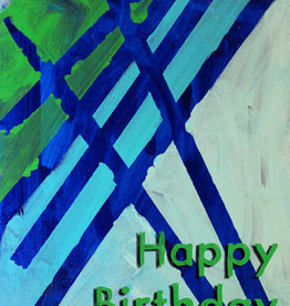 Create Happy Birthday-Green and Blue