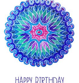 Create Mandala Happy Birthday