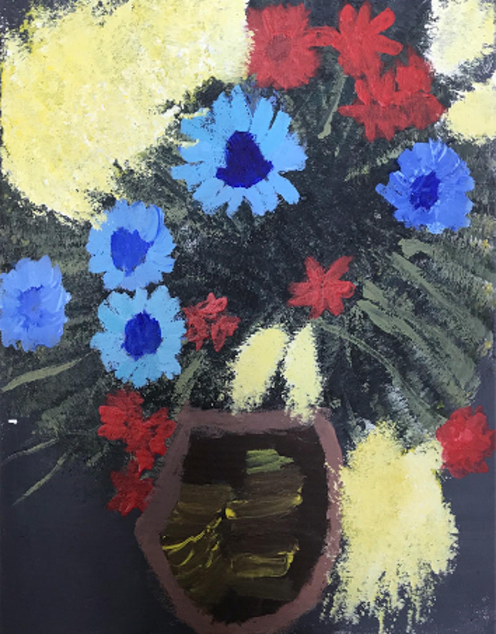 Create Greeting Card Vase of Flowers