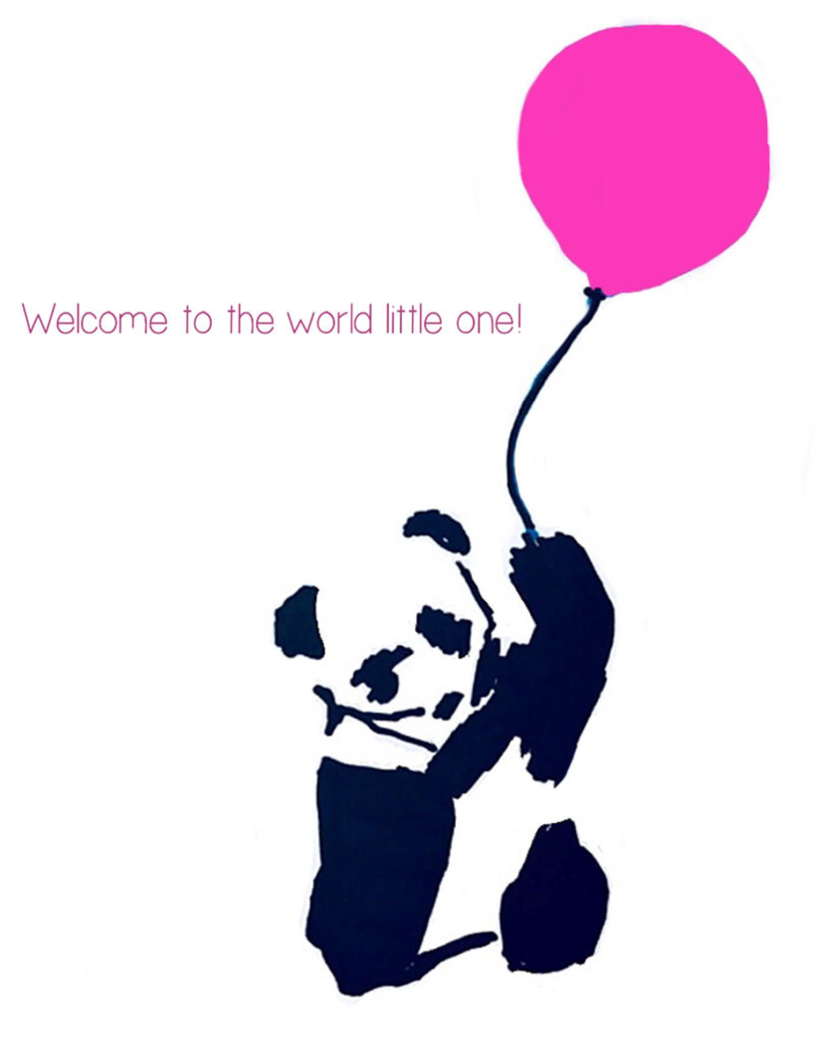 Create Greeting Card Playful Panda Girl