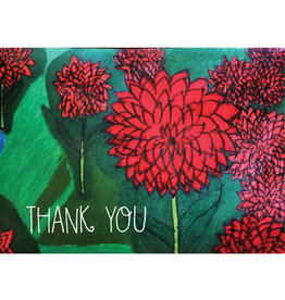 Create Thank You-Red Flowers