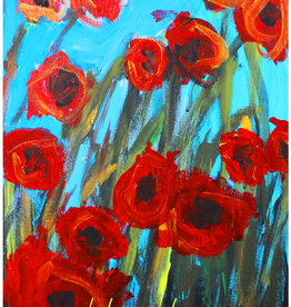 Create Poppies Thank You Card