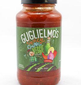 Guglielmo Sauce, LLC Guglielmo's Spicy Chunky Veggie Sauce 24 oz.