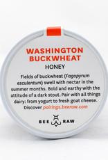 Bee Raw Raw Washington Buckwheat Honey 10.5 oz. Jar
