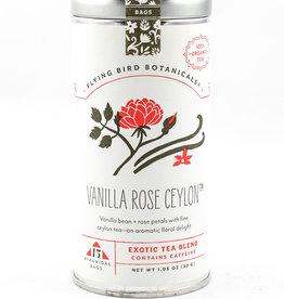Flying Bird Botanicals Vanilla Rose Ceylon 15 Bag Tin