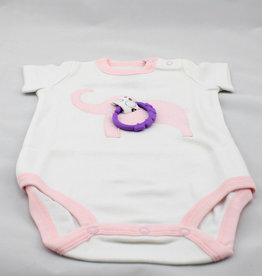 Happy Baby LLC Pink Elephant Short Sleeve-6m