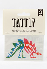 Tattly Stegosaurus Fossil Tattoo