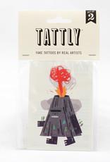 Tattly Volcano Tattoo