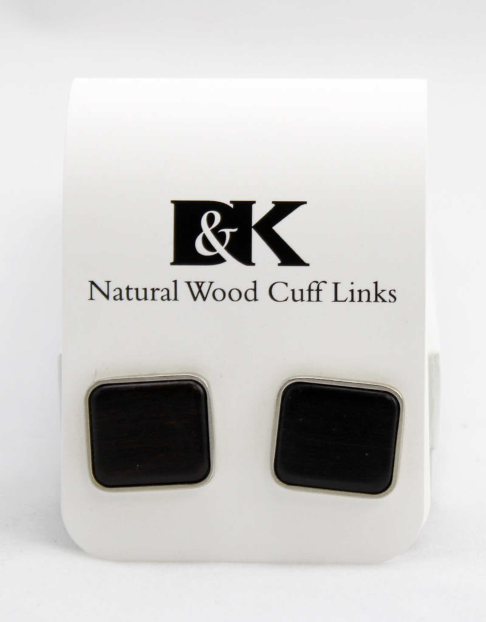 Davin and Kesler, Inc. Cuff Link Solid Square-Ebony