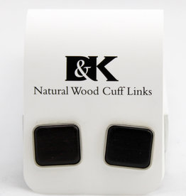 Davin and Kesler, Inc. Cuff Link Solid Square - Ebony