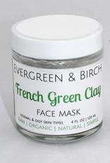 Evergreen & Birch French Green Clay Mask