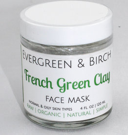Evergreen & Birch French Green Clay Mask