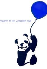 Create Greeting Card Playful Panda Boy
