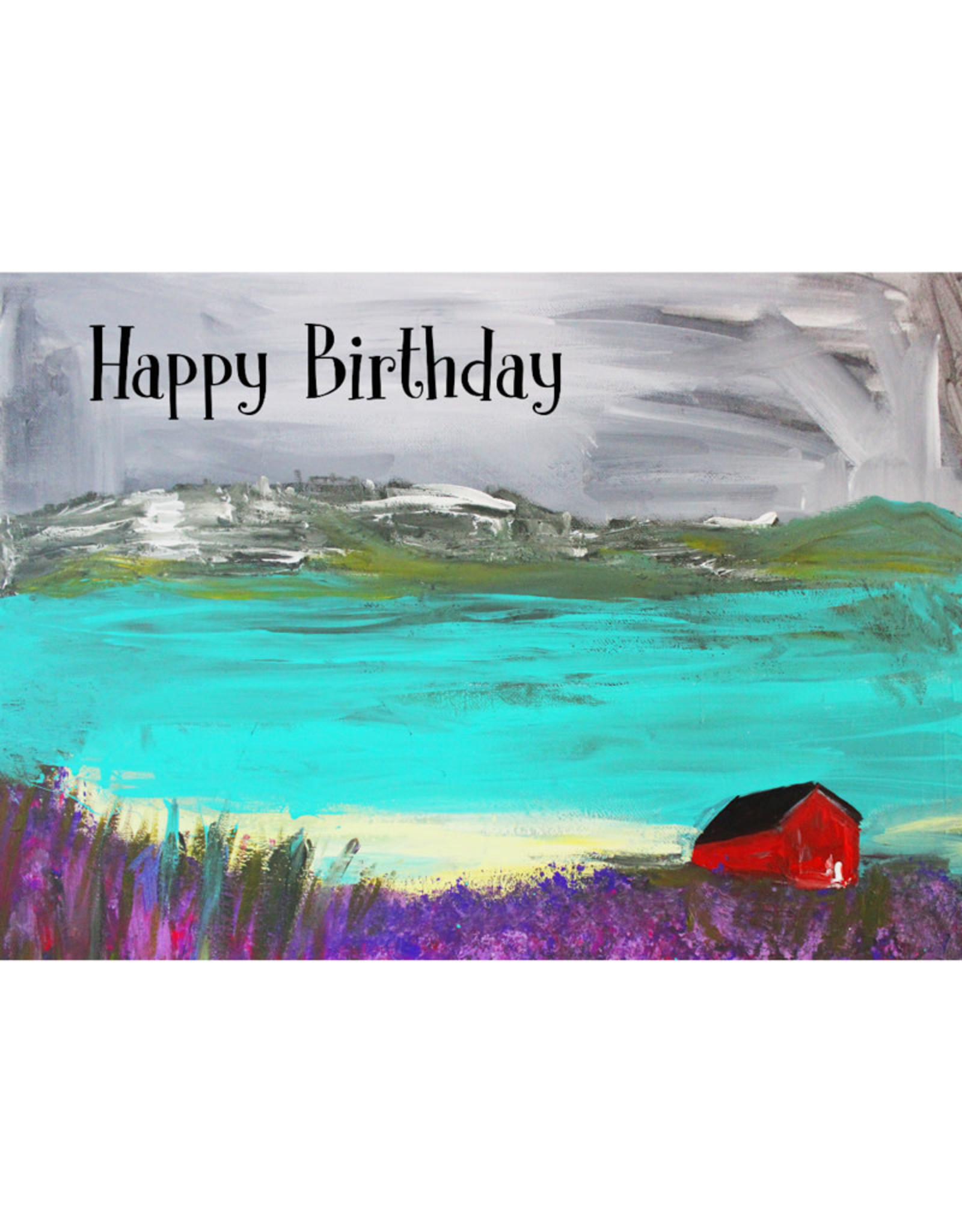 Create Greeting Card-Red Barn
