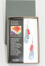 David Howell & Company Victory Banners Earrings
