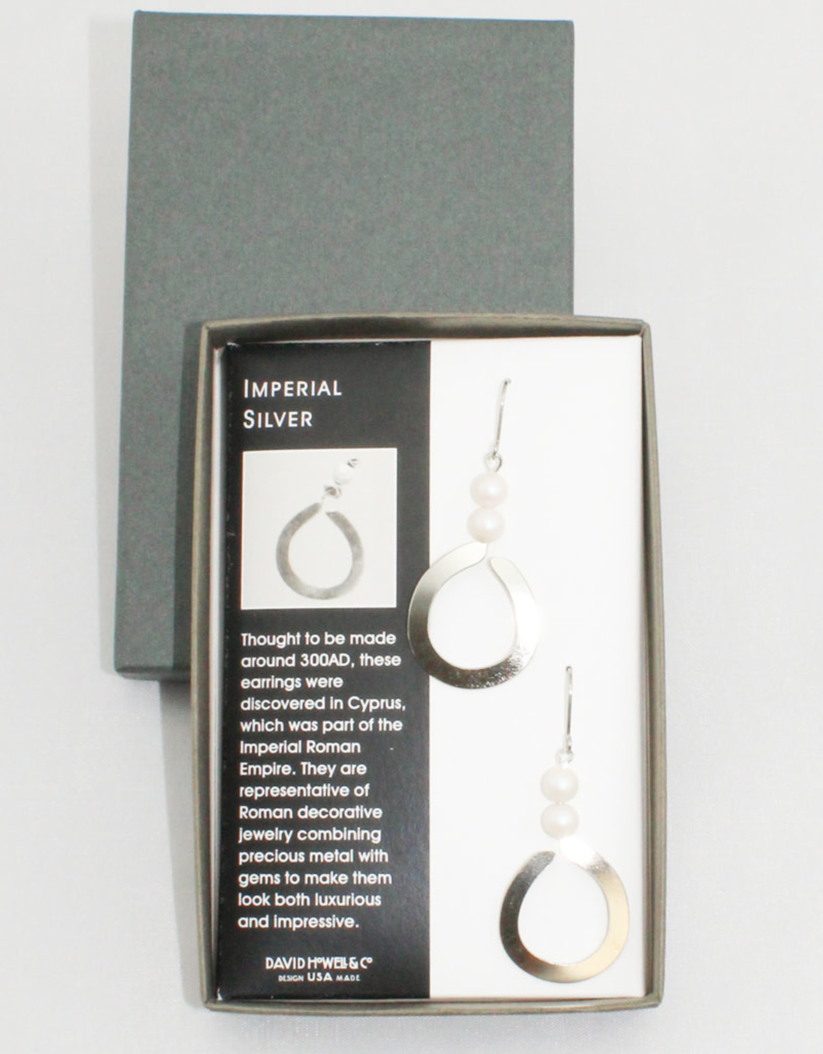 David Howell & Company Imperial Silver Earrings