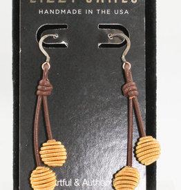 Lizzy James Viola Ear Gold-Gloss Chocolate-OS-