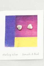 Semaki & Bird Heart Sterling Earrings