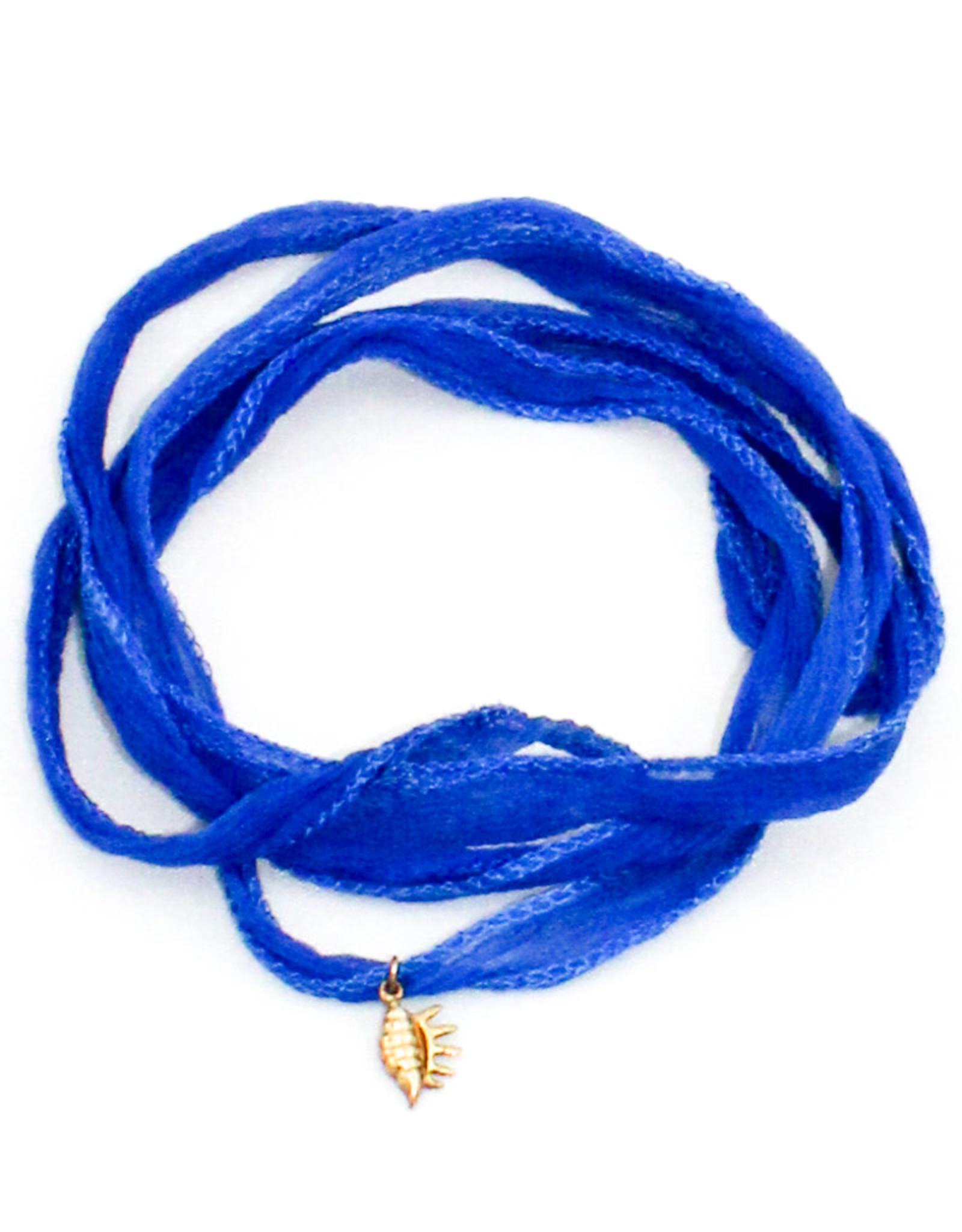 Crunchy Diva Designs Hand-Dyed Silk Wrap Bracelet