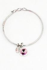 Float Jewelry Silver Adjustable Bracelet-June