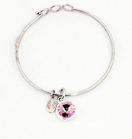 Float Jewelry Silver Adjustable Bracelet- June