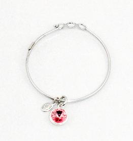 Float Jewelry Silver Adjustable Bracelet- October