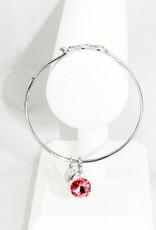 Float Jewelry Silver Adjustable Bracelet-October