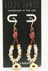 Lizzy James Tanya Gold Earrings-Nat Ant Brown---OS