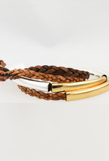 Lizzy James Mini Addison-Nat Ant Brown-2-Silver&Gold-S Bracelet