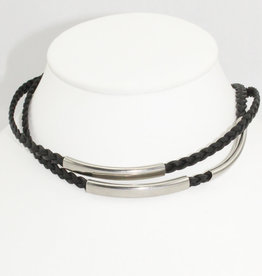 Lizzy James Mini Aiden-Nat Black-2-SS-L Bracelet