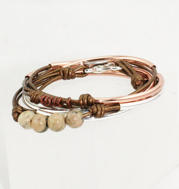Lizzy James Madeline Met Bronze 3 Rose -GP-S Bracelet