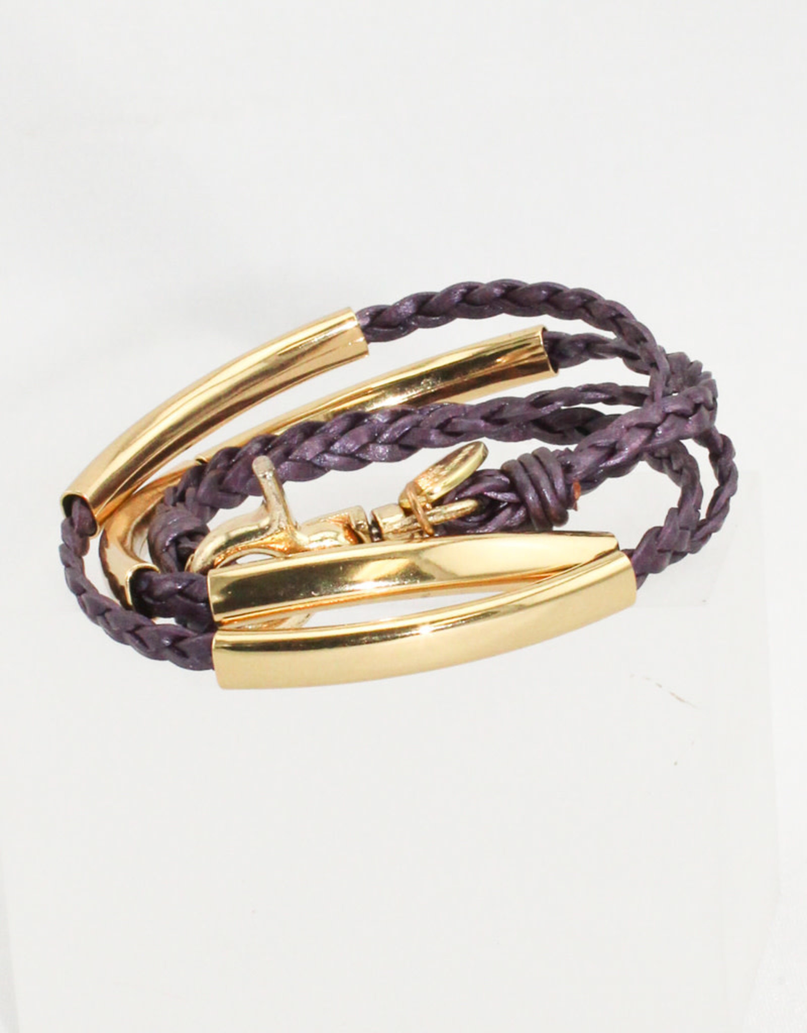 Lizzy James Mini Addison-Met Berry-2-Gold-S Bracelet