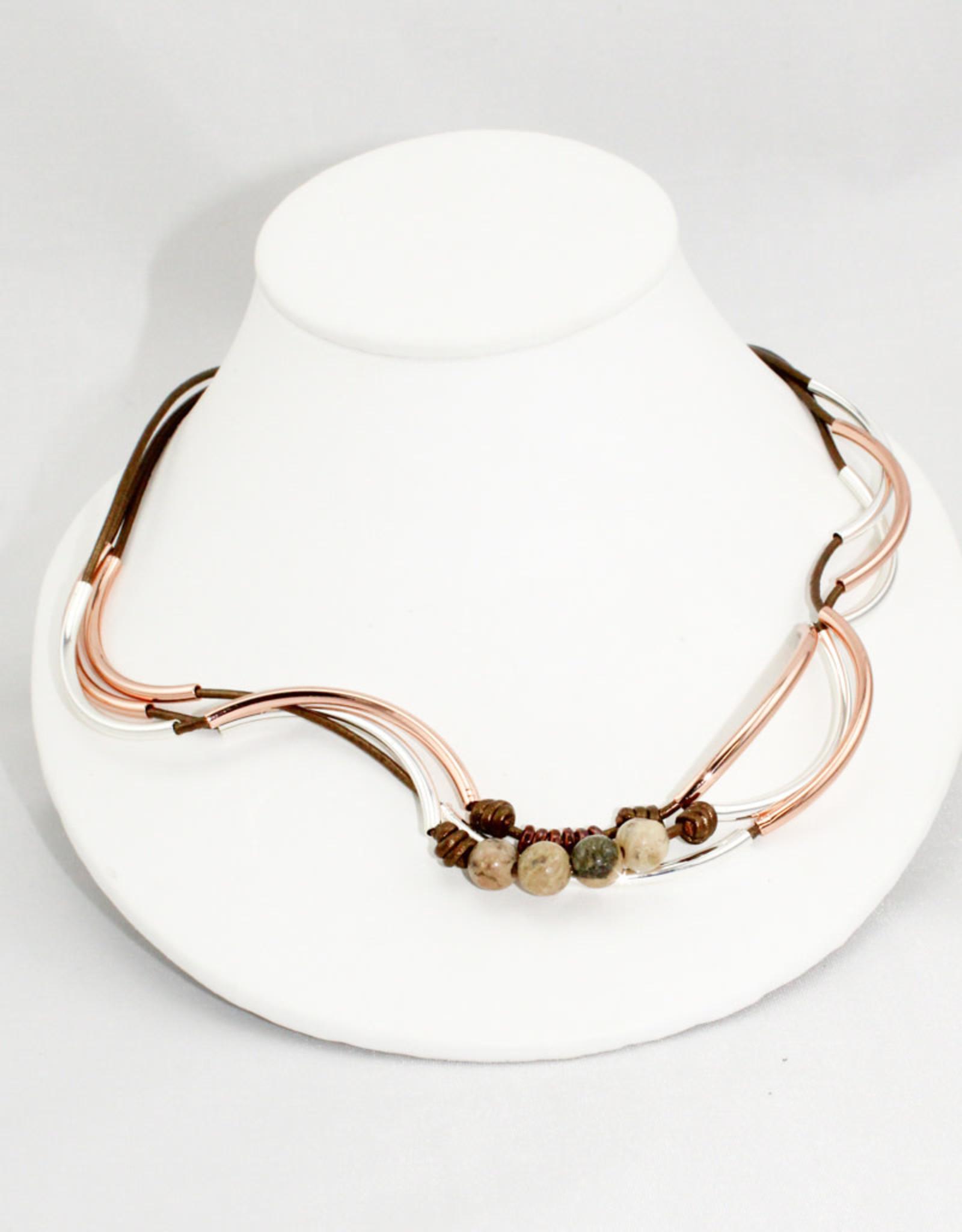 Lizzy James Madeline Met Bronze 3 Rose -GP-S Bracelet